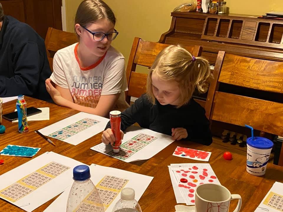 Children Participating in Zoom Virtual Bingo Charity Event